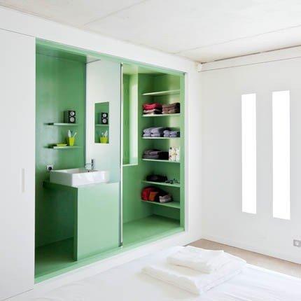 bagno en suite verde