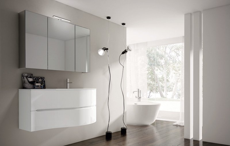 Smyle di ideagroup collezione di arredo bagno semplice e for Arredo bagno semplice