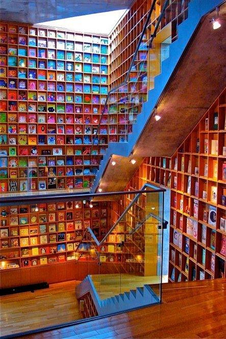 Photo of La bellissima libreria dell'Iwaki Museum of Picture Books for Children a Fukushima in Giappone