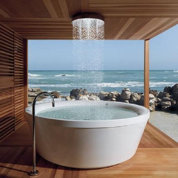Photo of La vasca Kos Geo 180 del designer Roberto Palomba