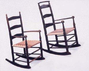 Arredi Shaker Style: la sedia a dondolo