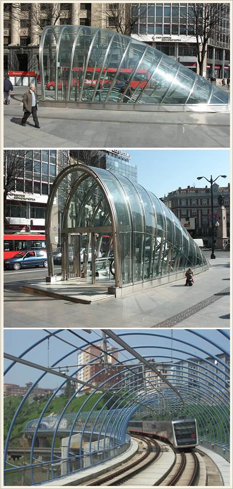 La metropolitana di Bilbao, opera di Norman Foster