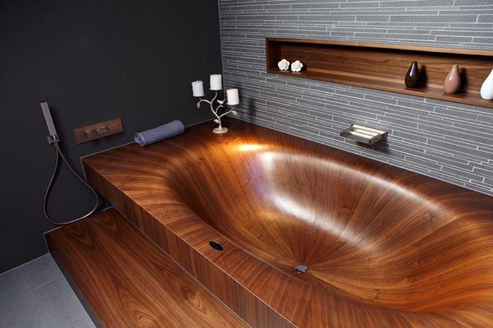 Photo of aLegna: la vasca da bagno in legno di design