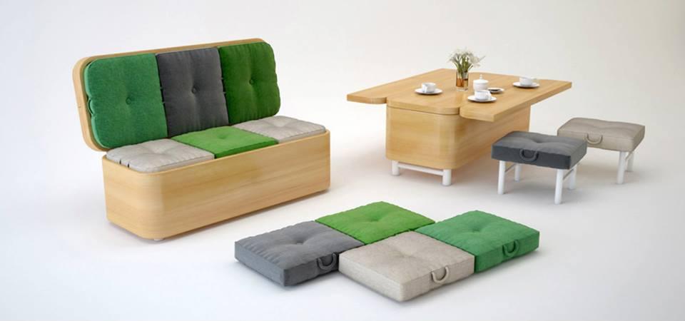 Photo of il divano convertibile della designer JULIA KONONENKO