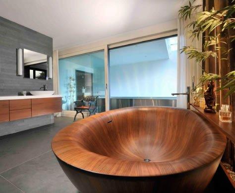 vasca da bagno in legno: davvero splendida