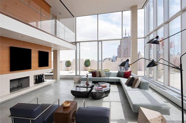 Attico con vista sui tetti di New York