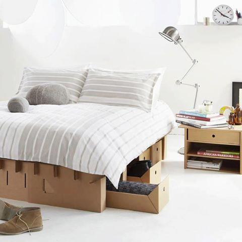 Photo of Un bel letto realizzato con cartone riciclato…