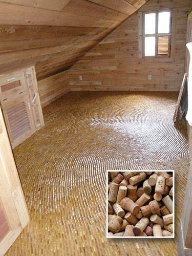 Photo of il pavimento fatto di tappi di sughero riciclati