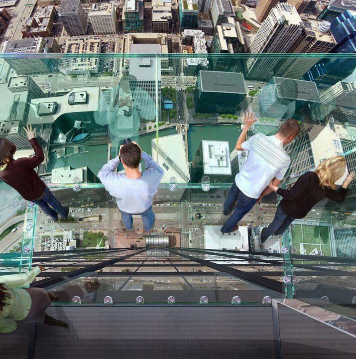 pavimento in vetro sears Tower