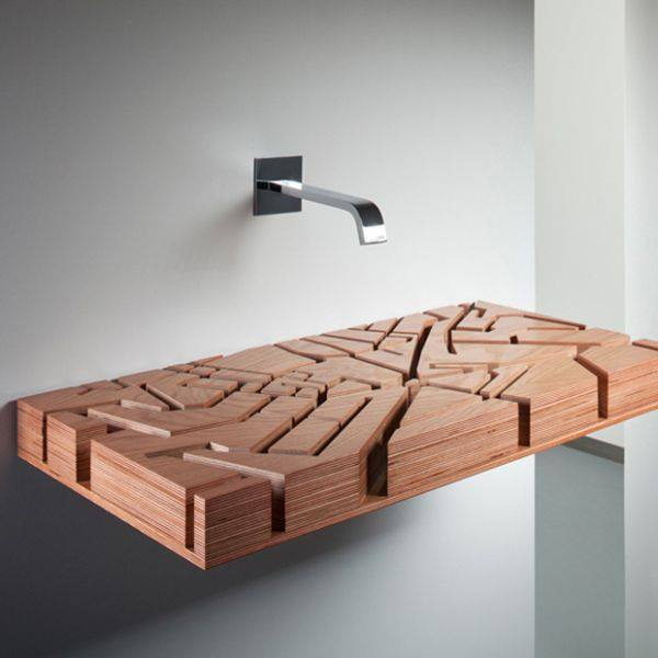 Photo of Water Map: il lavabo piatto in laminato a forma di Londra
