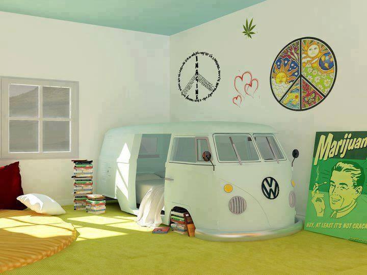 Photo of Una camera da letto in stile Hippie