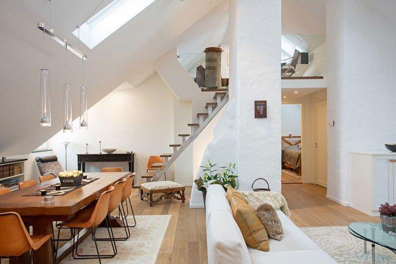 Loft-in-Kungsholmen: dettagli del living