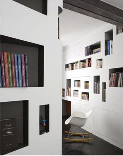 Photo of libreria-casa in 60 mq