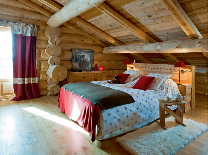 Camera da letto in chalet tutta in legno - Camere da letto di montagna ...