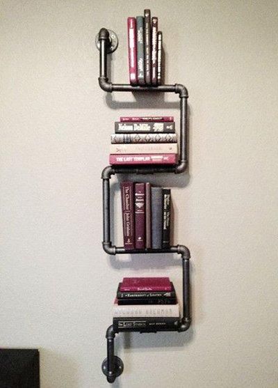 Libreria fai da te 10 facili idee originali da realizzare - Tubi a vista in casa ...