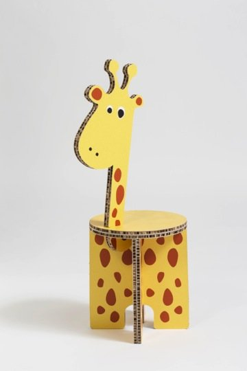 sedie in cartone per bambini di design - ZOË