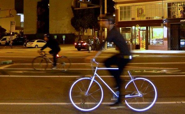 bicicletta riflettente