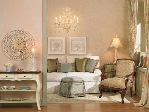 Shabby chic arredamento interiors per casa mobili - Soggiorno country chic ...