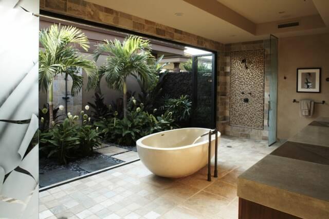 Kaimupulehu - altro esempio di bagno in stile tropicale