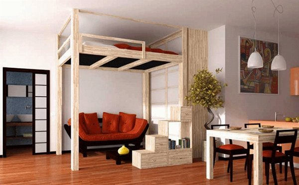 Esempi di arredo per un monolocale di 32 mq tanti esempi for 6 piani di casa colonica di 6 camere da letto