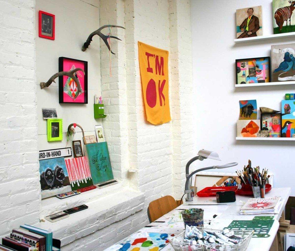 arte nell'ufficio in casa