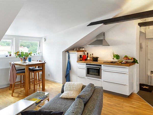 Cucina in mansarda idee e progetti da copiare per la vostra casa - Cucine per mansarde basse ...