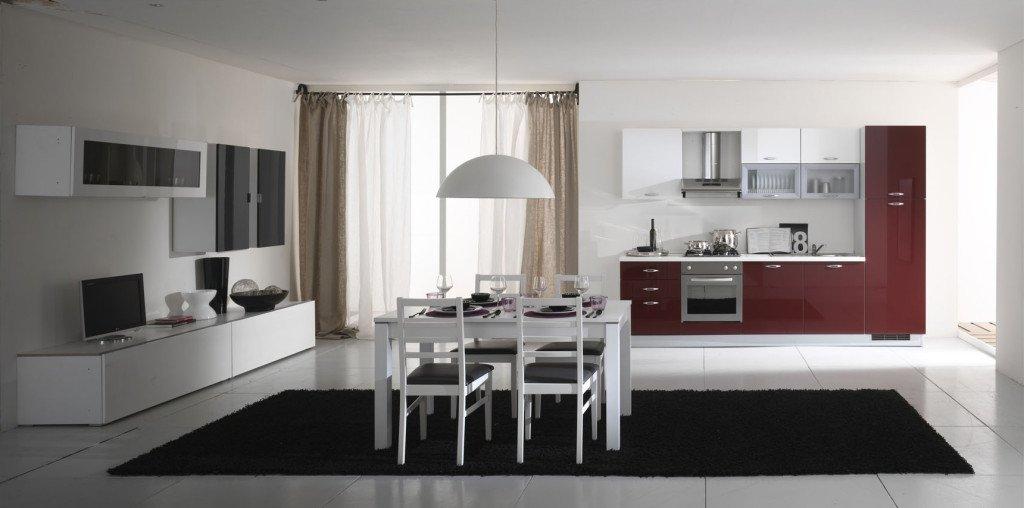 cucina e soggiorno insieme: idee ed esempi di arredamento - Ambiente Unico Cucina Soggiorno Casa
