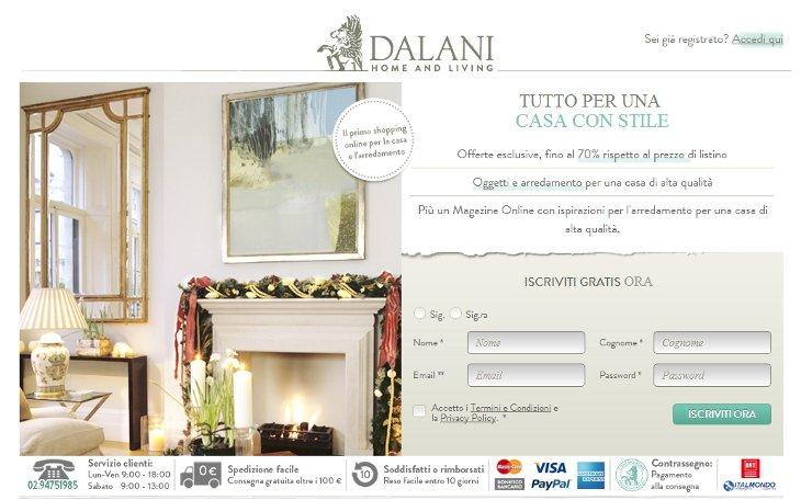 Dalani arredamenti catalogo mobili design a prezzi scontati for Dalani home and living
