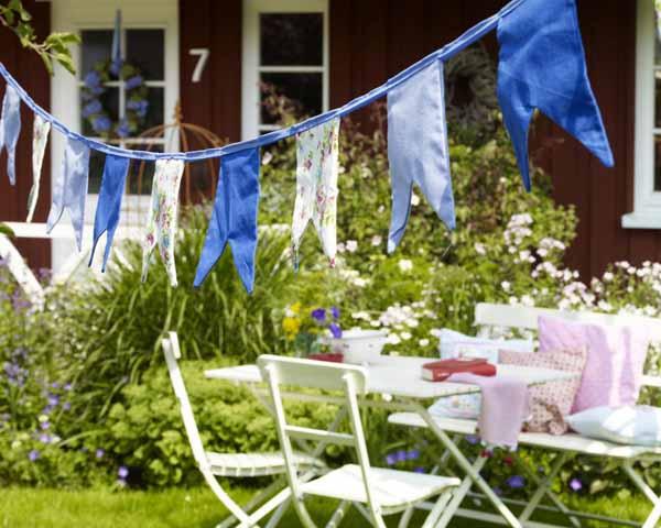 Idee per arredare il giardino d'estate Midsommer: Wimpelkette