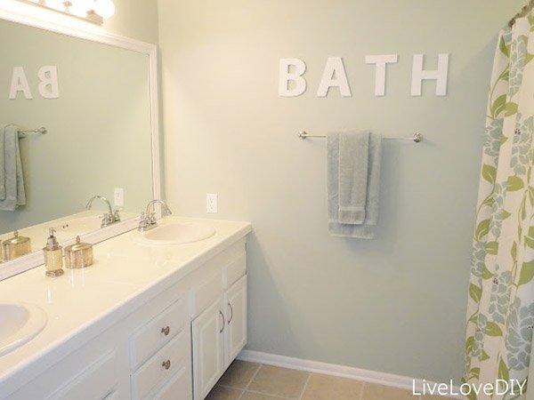 lettere per il bagno