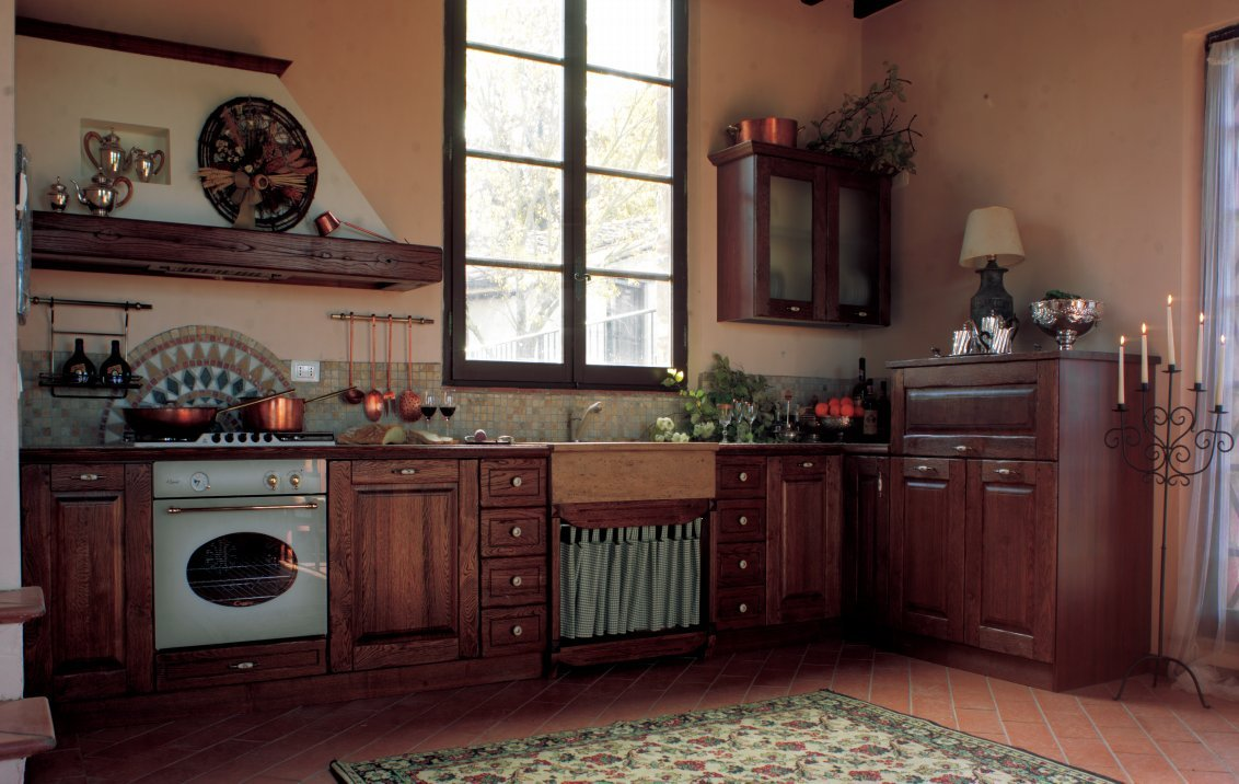 Cucine rustiche idee foto di esempi e consigli d 39 arredo for Tendine per cucina rustica
