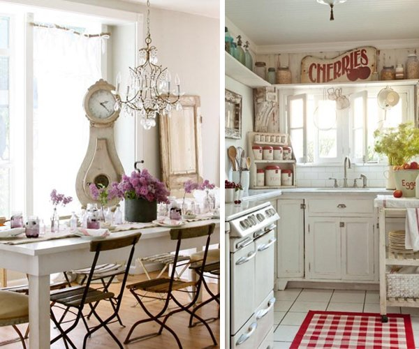 Shabby chic arredamento interiors per casa mobili for Case shabby chic country