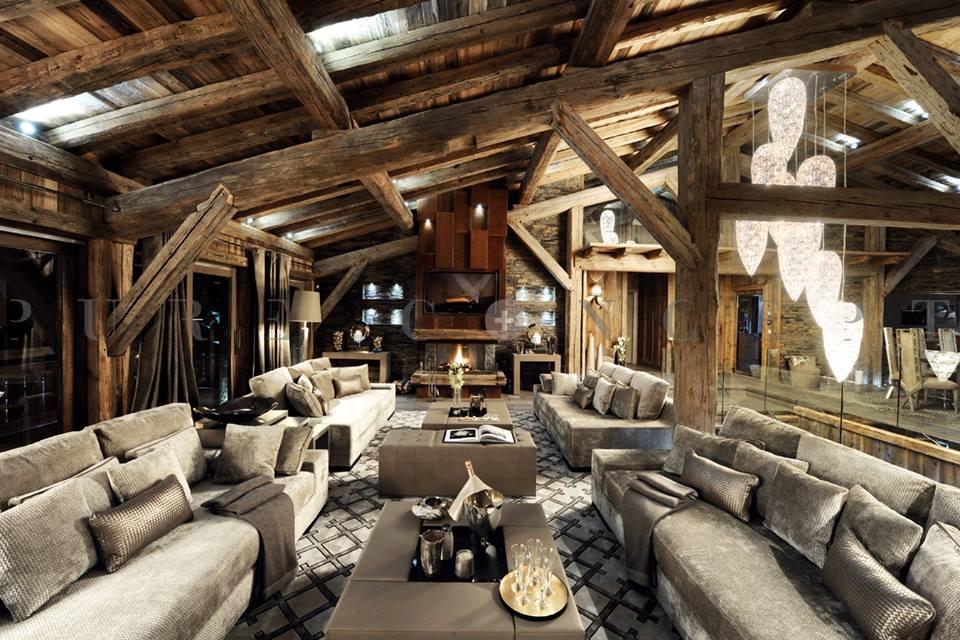 Chalet brickell a meg ve splendido nelle alpi francesi for Chalet arredamento