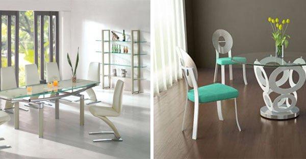 Quali sedie abbinare ad un tavolo col piano in vetro trasparente ...