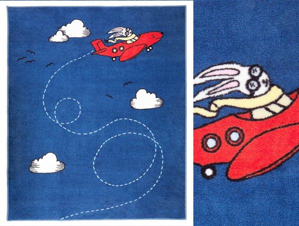 Tappeti Cameretta Bimba: Tappeto lavabile azzurro con ...