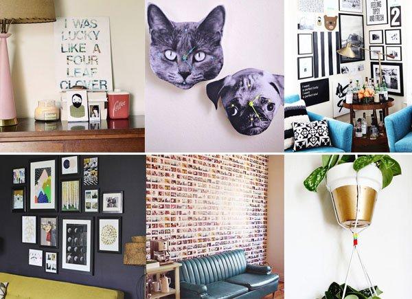 decorazioni pareti - 6 semplici modi per decorare le pareti di casa