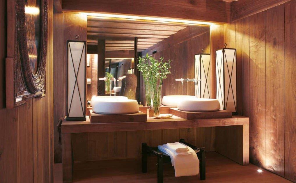 Bagni in legno quali trattamenti per pavimenti e - Mobile bagno legno grezzo ...