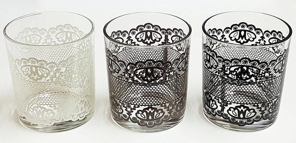 bicchieri per arredare la tavola shabby chic