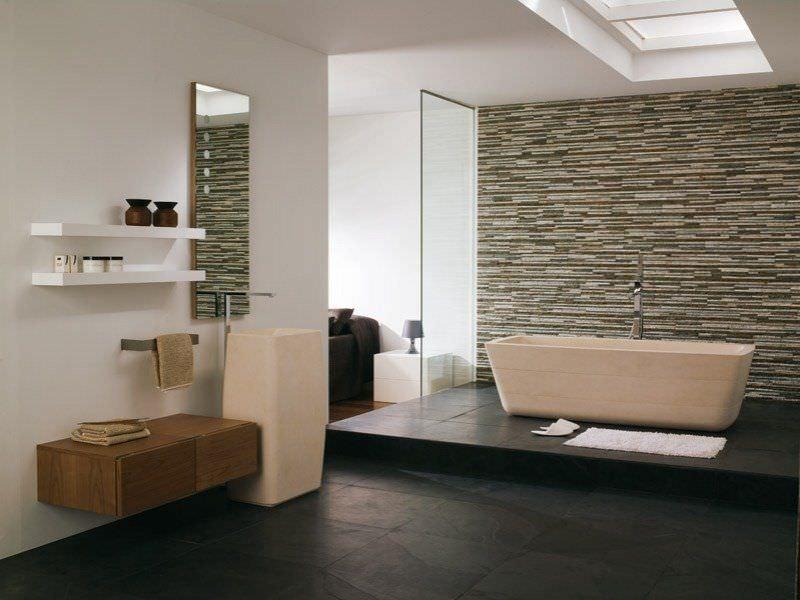pietra naturale in bagno idee per il rivestimento del bagno. Black Bedroom Furniture Sets. Home Design Ideas