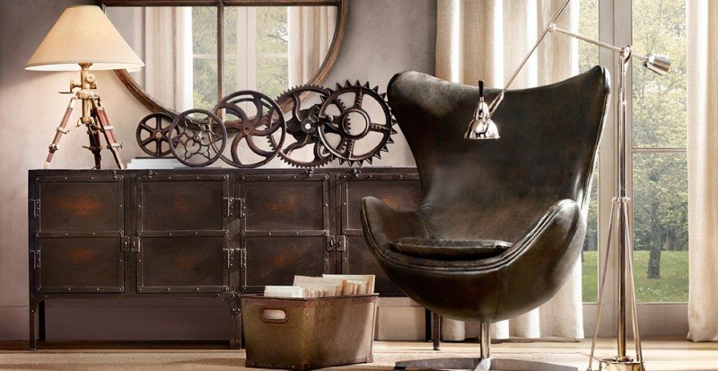 elementi decorativi in stile industrial