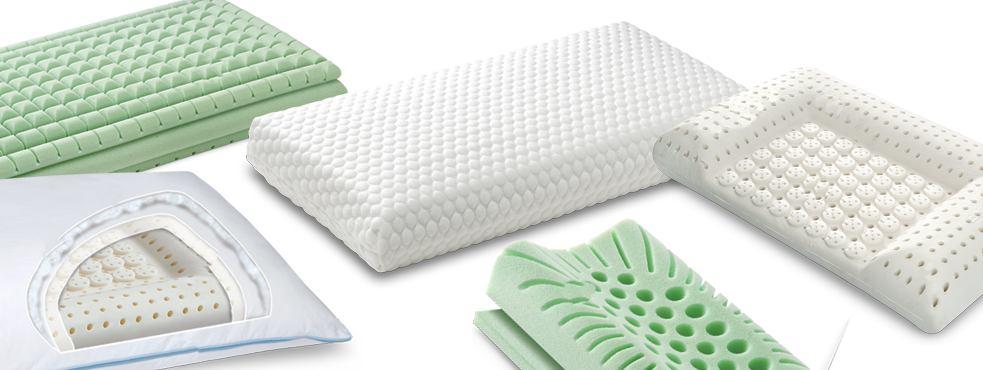 cuscini per il letto in lattice