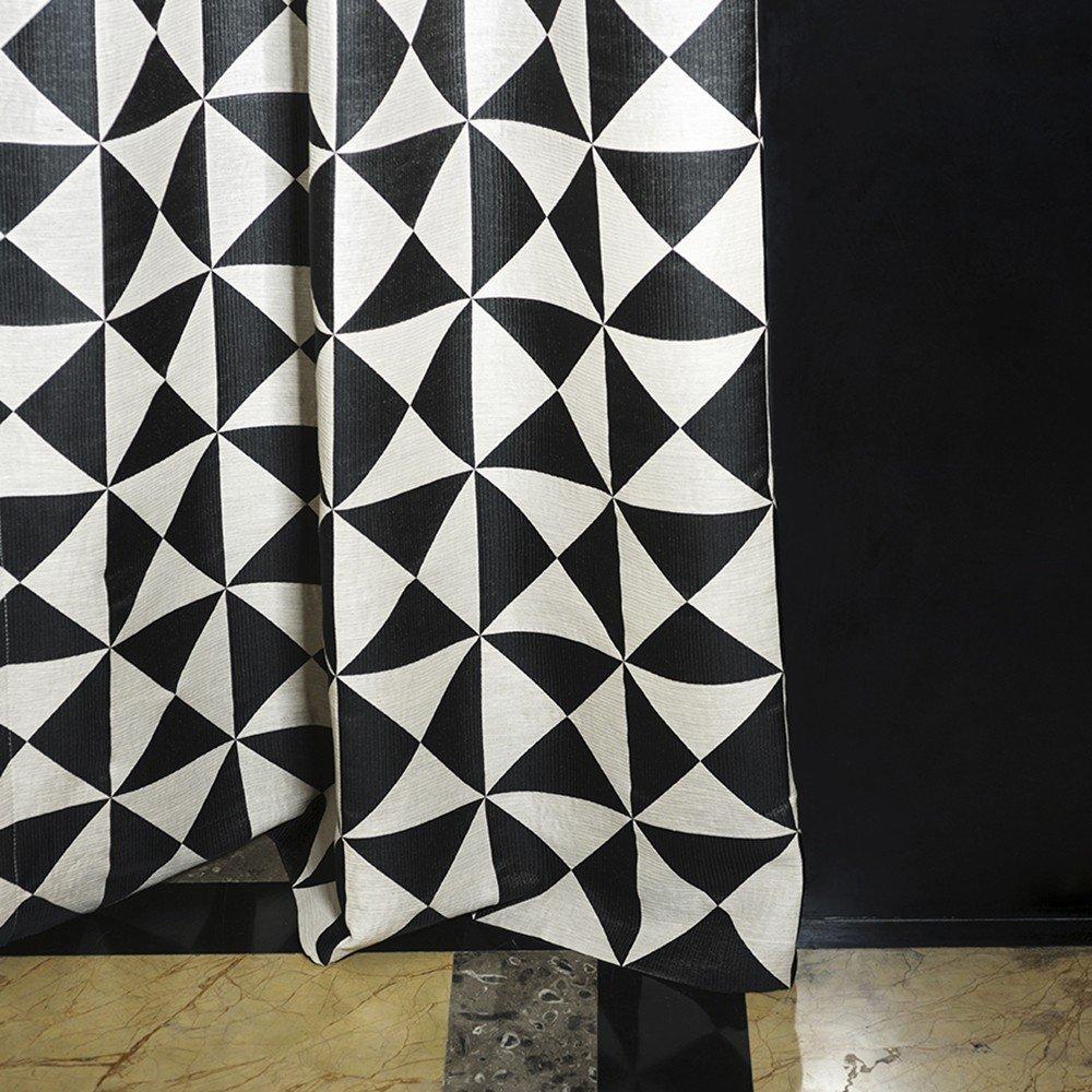 arredamento living tende geometriche
