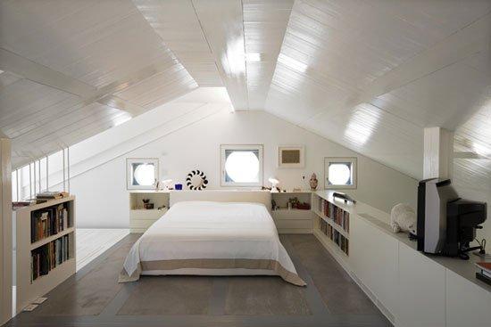 Camera da letto in mansarda: foto di esempi e suggerimenti ...