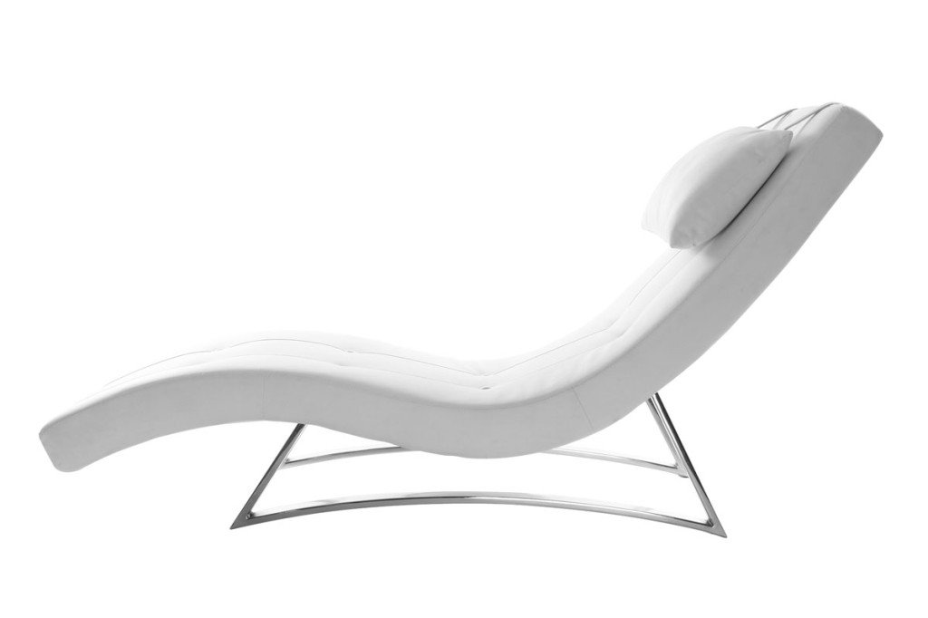 chaise longue miliboo living bianco ottico