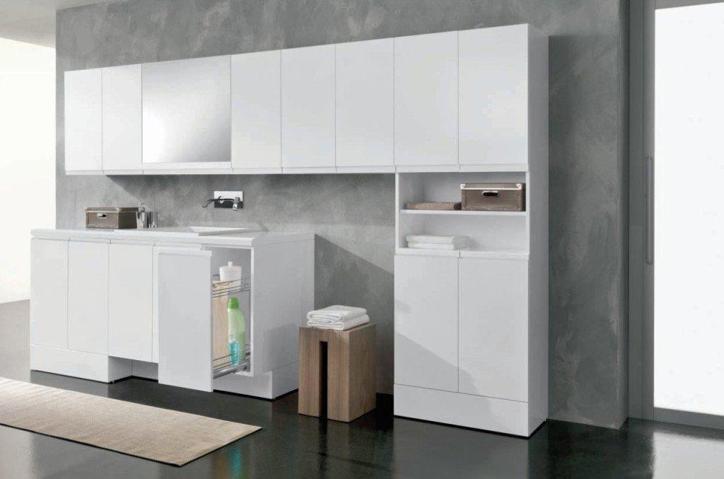 Mobili lavanderia a scomparsa ideali per chi ha poco spazio - Lavatrice in bagno soluzioni ...