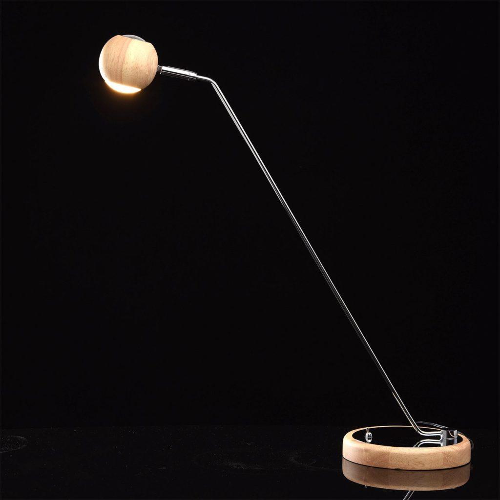 arredare il soggiorno in stile ecologico con la lampada