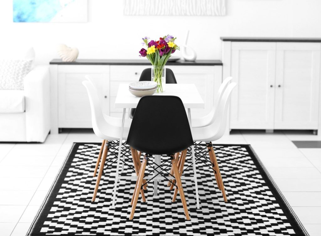 arredare il soggiorno in stile ecologico con il tappeto