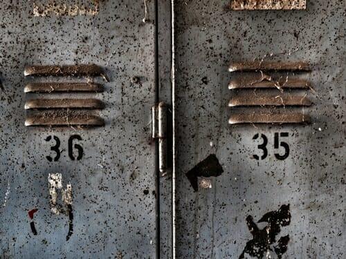 armadietto in metallo industrial