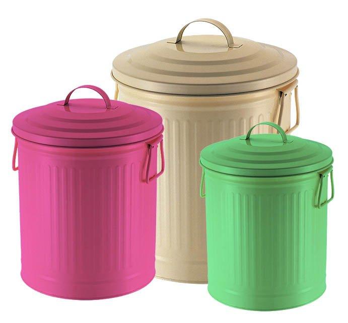 bidoncini per riciclo dei rifiuti