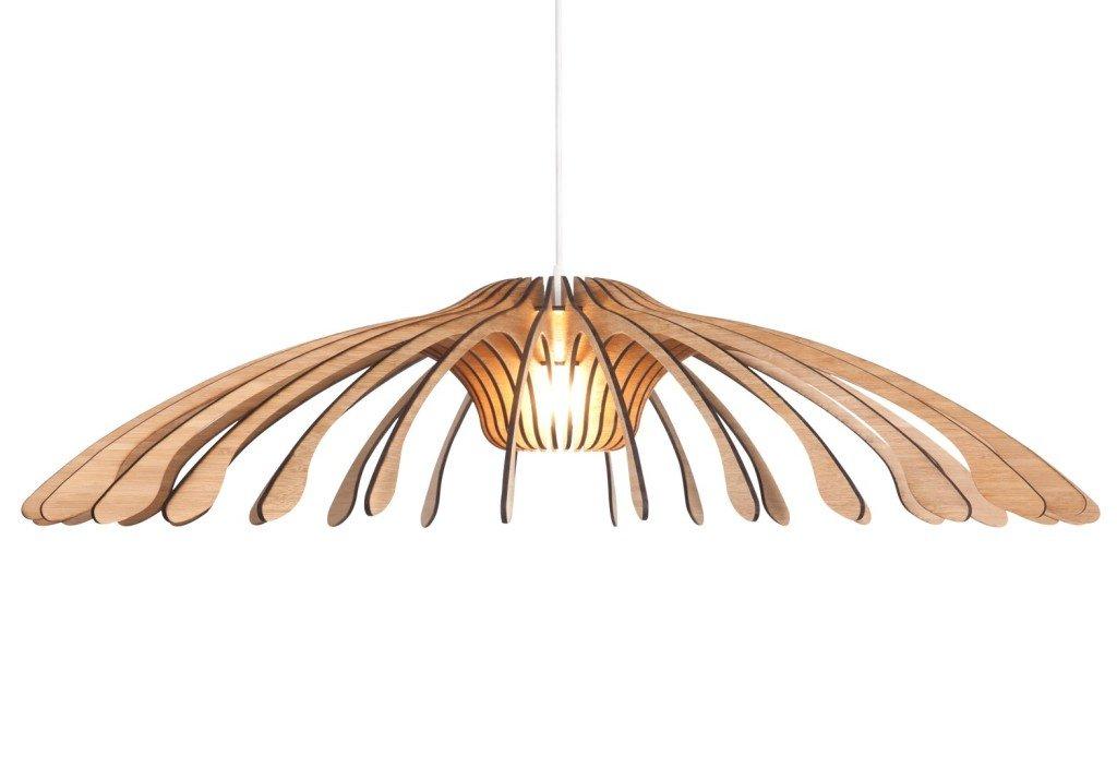 Che legno scegliere per la cucina: lampada in bambù